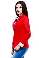 Женский красивый пиджак красного цвета Вителия  по низким ценам