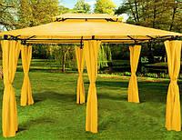 Прямоугольный Садовый павильон 3х4 м желтый