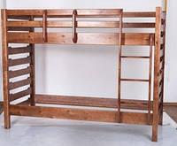 Кровать двухъярусная Троя(яблоня махонь орех тем.орех св.ольха)