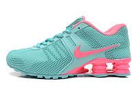 Женские кроссовки Nike Shox голубые