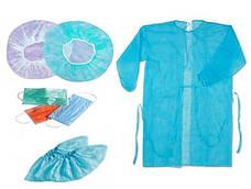 Одежда медицинская одноразовая: маски, респираторы, бахилы, халаты, шапочки и т.п.