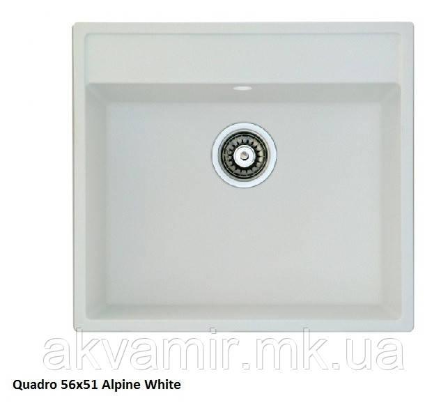 Мийка для кухні Fabiano Quadro 56x51 Alpine White (альпійський білий)