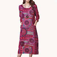 Длинное летнее платье в стиле бохо
