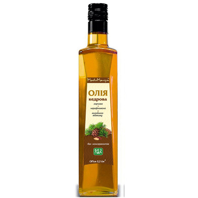 Кедровое масло 0,2л