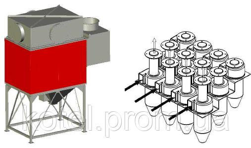 Мультициклонный дымофильтр котла СН Compact 1500 квт