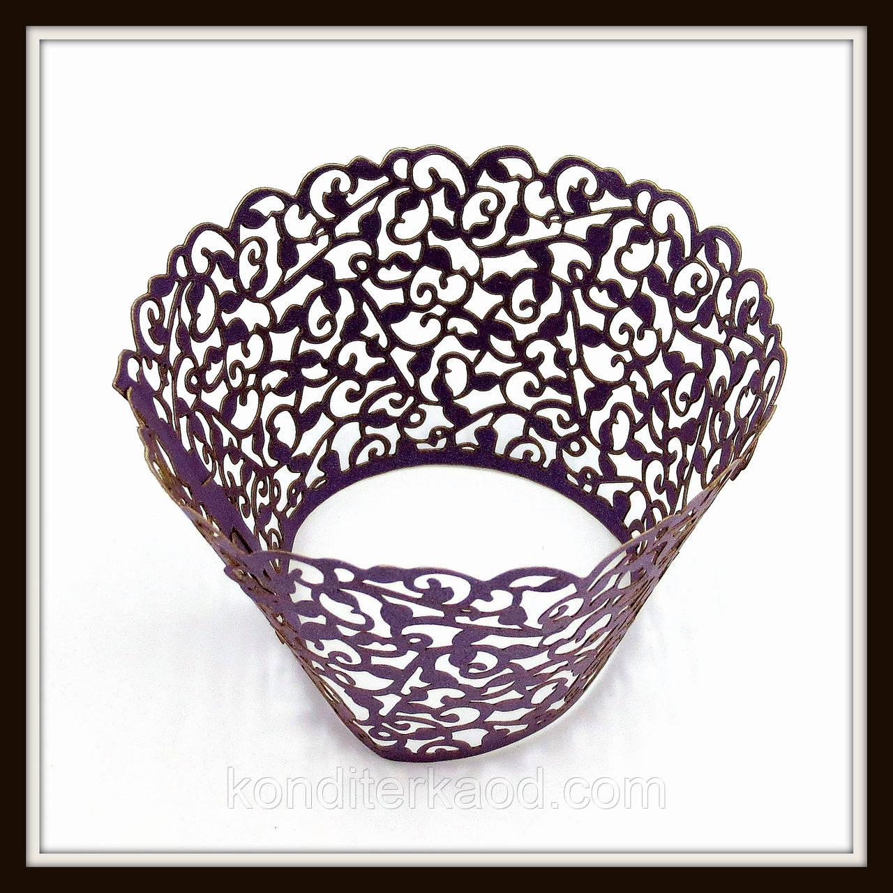 Декор для кексів фіолетовий