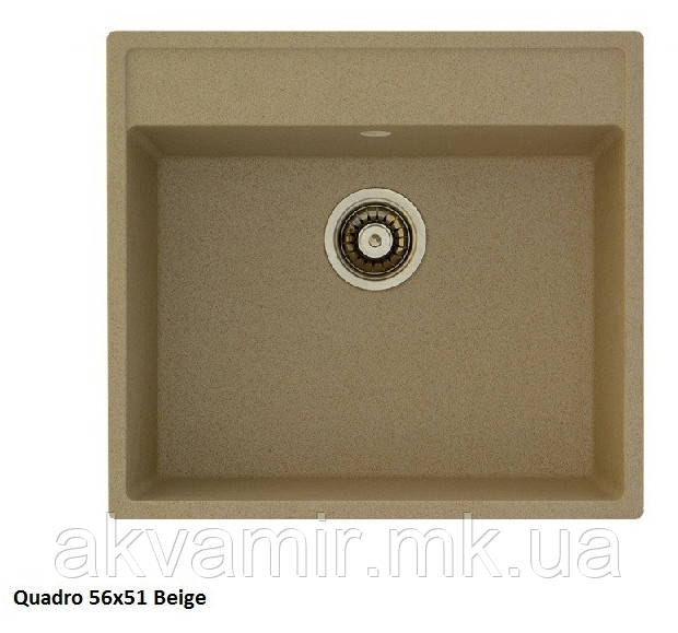 Мийка для кухні Fabiano Quadro 56x51 Beige (пісочний)