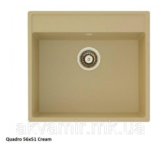 Мийка для кухні Fabiano Quadro 56x51 Cream (кремовий)