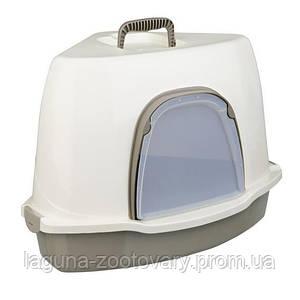 """Туалет-домик угловой для кошек и котят """"Альваро"""", 55х42х42см"""