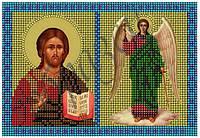 Схема для вышивания бисером икона Молитва ангелу-хранителю КМД 5007