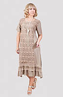 Пастельное женское платье большого размера