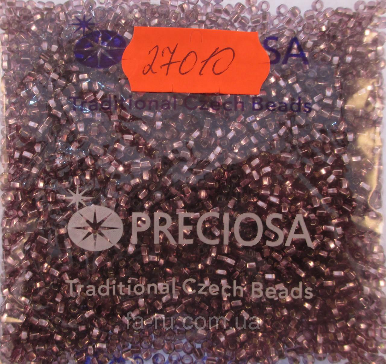 Бисер 10/0, цвет - крепкий чай,  №27010 (с квадратным отверстием)