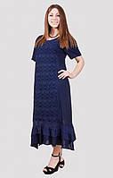 Женское платье большого размера с небольшыми рюшами