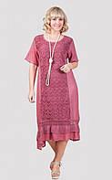 Нарядное платье с оригинальным оформлением передней планки