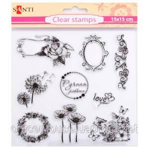 Штамп силікон 15х15 Квіти