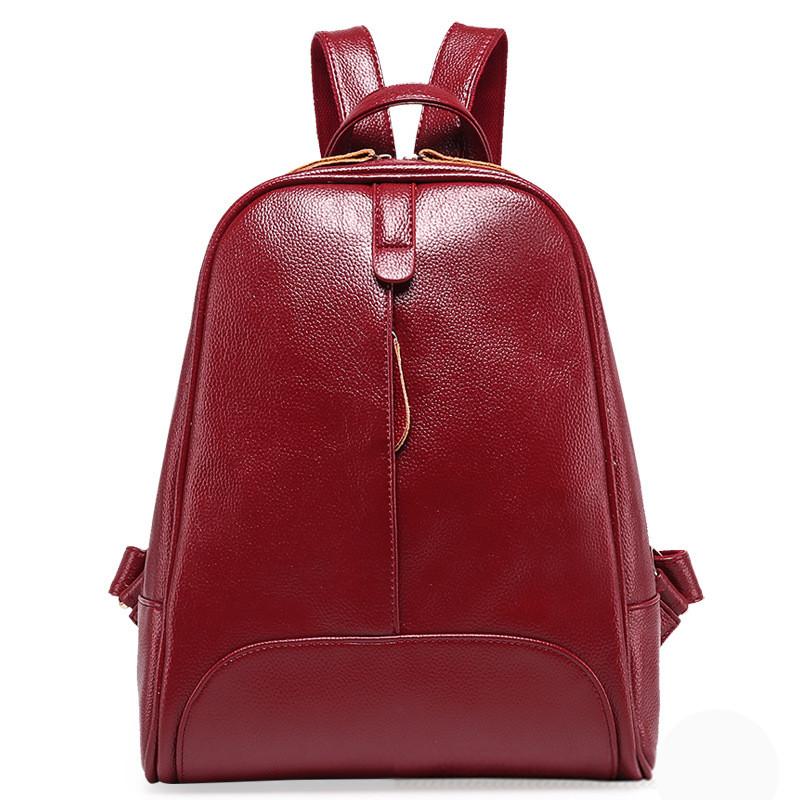 4611b2272d3e Женский рюкзак кожаный Бордовый - Интернет-магазин Kerala.com.ua в Киеве