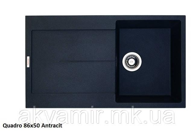 Мойка для кухни Fabiano Quadro 86x50 Antracit (антрацит)