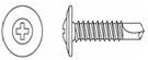 Саморез по металлу  пресс-шайба с буром 4.2x76