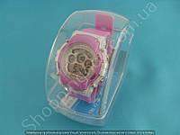 Детские часы Mingrui MR-8552095 (113914) сиреневые с подсветкой число месяц день недели будильник секундомер