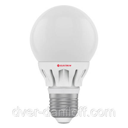 Лампа ELECTRUM светодиодная сферическая GLOBE D60 6W E27 4000 AL LG-8, фото 2