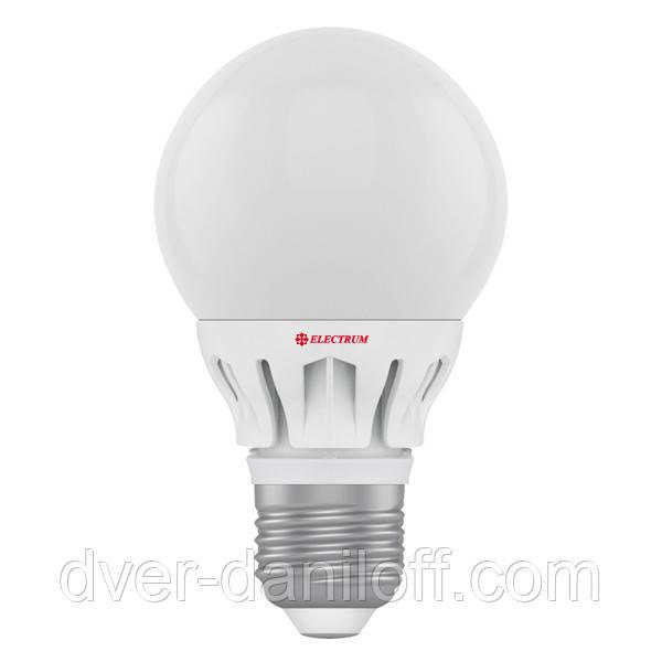 Лампа ELECTRUM светодиодная сферическая GLOBE D60 7W E27 2700 AL LG-14