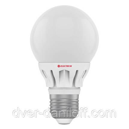Лампа ELECTRUM светодиодная сферическая GLOBE D60 7W E27 2700 AL LG-14, фото 2
