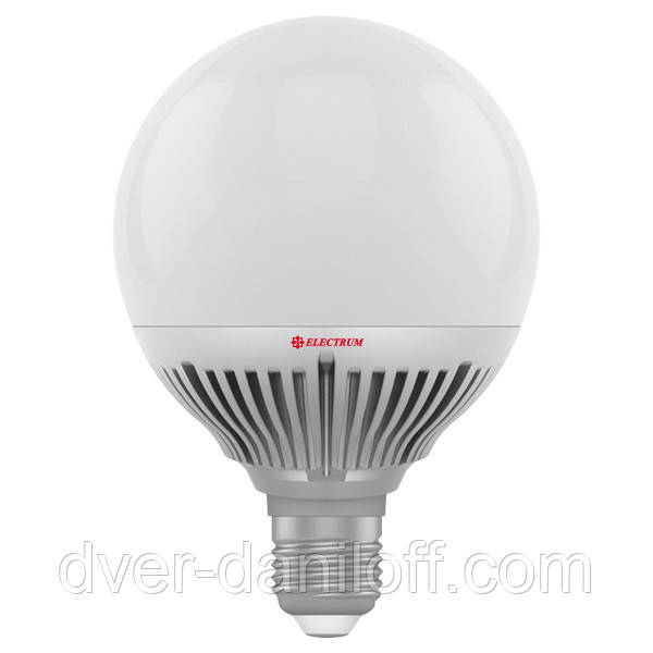 Лампа ELECTRUM светодиодная сферическая GLOBE D95 15W E27 2700 AL LG-36