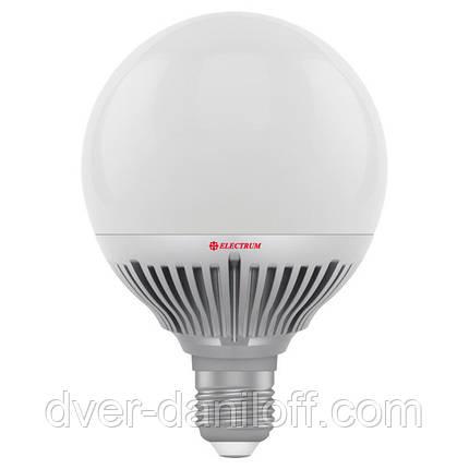 Лампа ELECTRUM светодиодная сферическая GLOBE D95 15W E27 2700 AL LG-36, фото 2