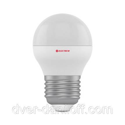 Лампа ELECTRUM светодиодная сферическая D45 3W Е27 4000 PA LB-8, фото 2