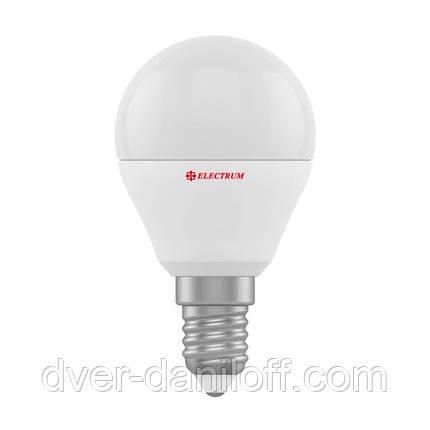 Лампа ELECTRUM светодиодная сферическая D45 4W Е27 4000 PA LB-10, фото 2