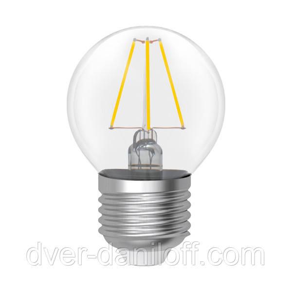 Лампа ELECTRUM светодиодная сферическая D45 4W GL LB- 4F E27 2900 Rf