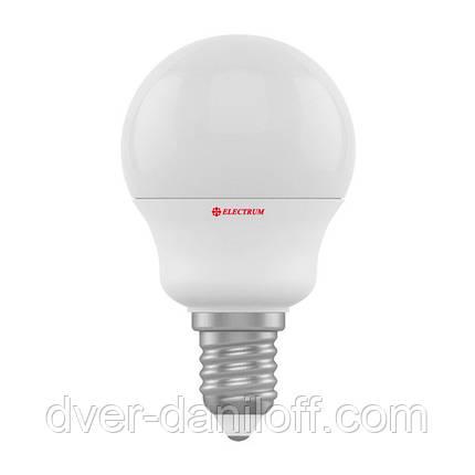 Лампа ELECTRUM светодиодная сферическая D45 6W E14 4000 PA LB-9, фото 2