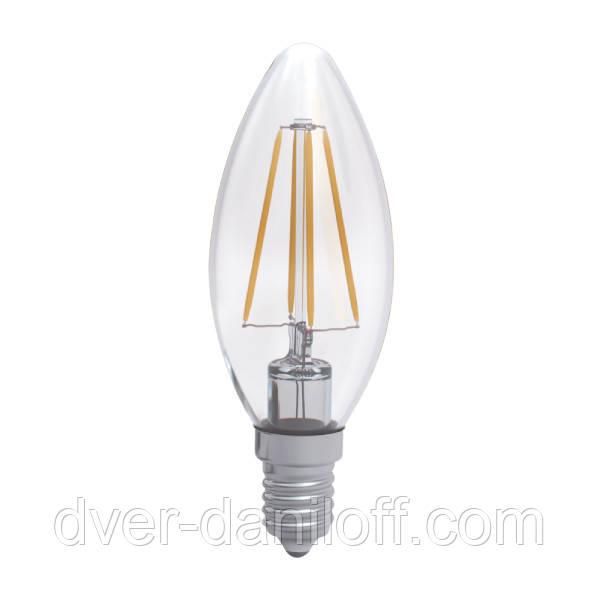 Лампа ELECTRUM светодиодная свеча С37 4W GL LC- 4F E14 3000 Rf