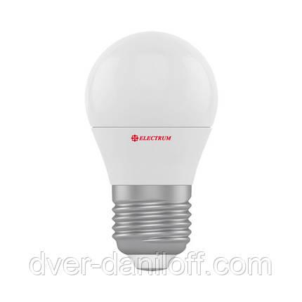Лампа ELECTRUM светодиодная сферическая D45 6W E27 4000 PA LB-9, фото 2