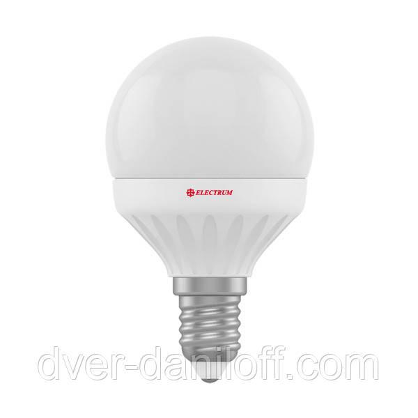 Лампа ELECTRUM светодиодная сферическая D45 6W E14 4000 PA LB-12