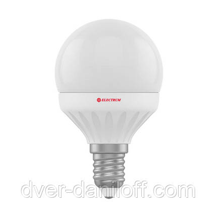 Лампа ELECTRUM светодиодная сферическая D45 6W E14 4000 PA LB-12, фото 2