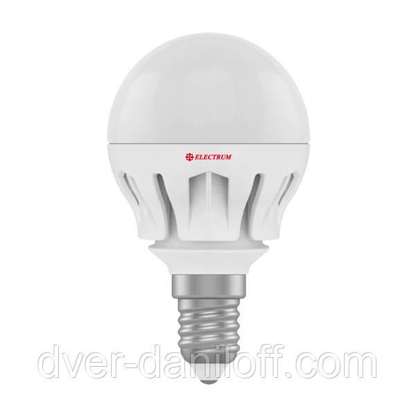 Лампа ELECTRUM светодиодная сферическая D45 6W Е14 4000 AL LB-14