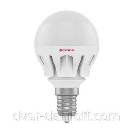 Лампа ELECTRUM светодиодная сферическая D45 6W Е14 4000 AL LB-14, фото 2