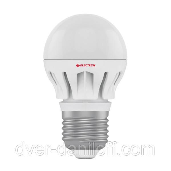 Лампа ELECTRUM светодиодная сферическая D45 6W Е27 2700 AL LB-14