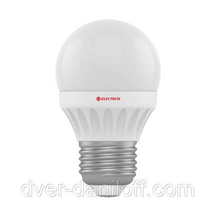 Лампа ELECTRUM светодиодная сферическая D45 7W PA LB-12 E27 4000, фото 2