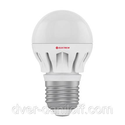 Лампа ELECTRUM светодиодная сферическая D45 7W E27 4000 AL LB-14, фото 2