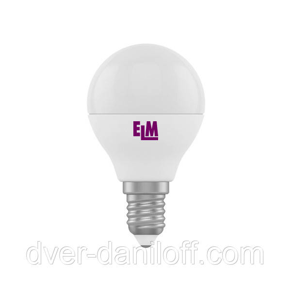 Лампа ELM светодиодная сферическая D45 4W PA11 E14 4000 ELM