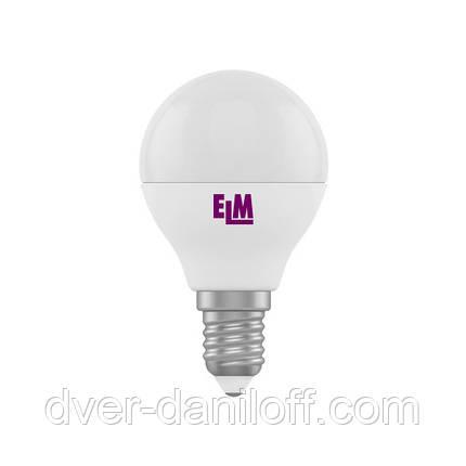 Лампа ELM светодиодная сферическая D45 4W PA11 E14 4000 ELM, фото 2