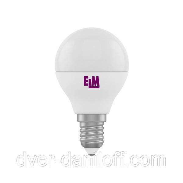 Лампа ELM светодиодная сферическая D45 5W PA11 E14 4000 ELM