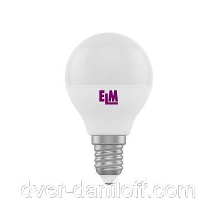 Лампа ELM светодиодная сферическая D45 5W PA11 E14 4000 ELM, фото 2