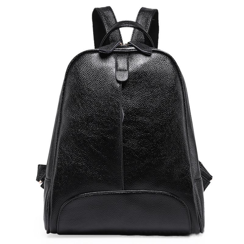 a0bebc064a18 Женский кожаный рюкзак черного цвета - купить онлайн в Киеве