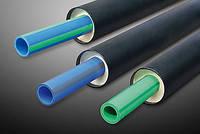 Полипропиленовые трубы изолированные пенополиуретаном в ПЕ оболочке диаметр 20х2.8/90мм