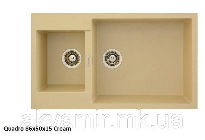 Мойка для кухни Fabiano Quadro 86x50x15 Cream (кремовый)