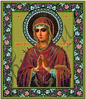 Схема для вышивания бисером икона Умягчение злых сердец икона Божией Матери (Семистрельная) КМИ 3016