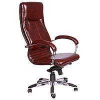 Кресло компьютерное Ника HB хром Мадрас коньяк, фото 1